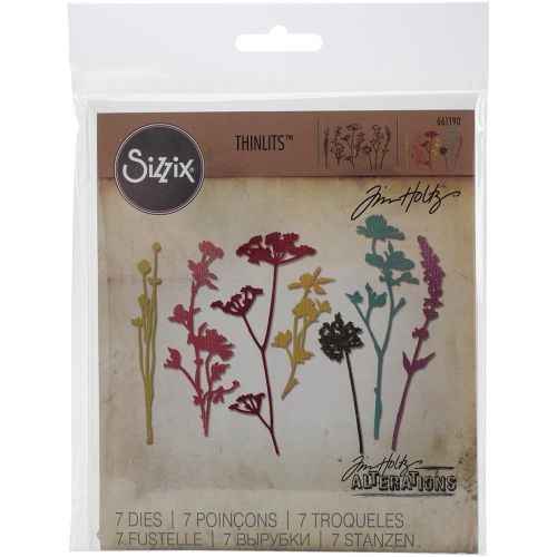 Sizzix  - Thinlits - Tim Holtz - Alterations - 7/Pkg - Wildflowers