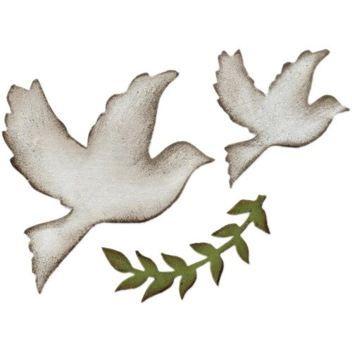 Sizzix - Tim Holtz - Alterations - Bigz Die - Enchanted Doves