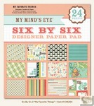 My Minds Eye - Six by Six Paper Pads - My Favorite Things Six by Six Pad