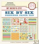 My Minds Eye - Six by Six Paper Pads - Hootenanny Six by Six Pad
