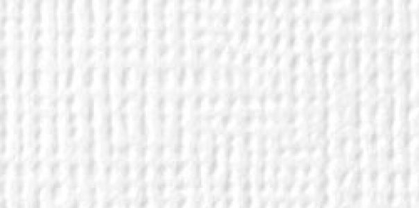 American Crafts - Cardstock - Linen Weave - White