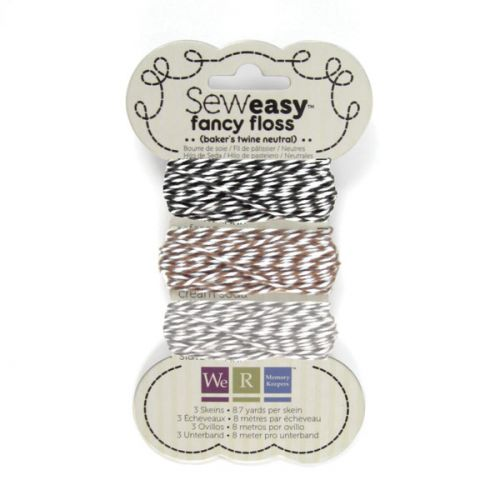We R Memory Keepers - Sew Easy - Fancy Floss - Baker's Twine - Neutral