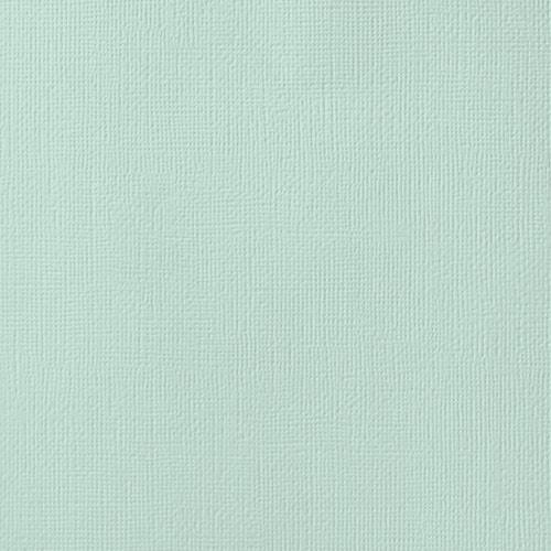 American Crafts - Cardstock - Linen Weave - 12 X 12 - Spearmnt