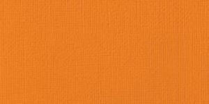 American Crafts - Cardstock - Linen Weave - 12 X 12 - Squash
