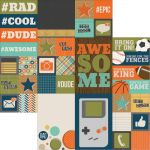 Simple Stories - So Rad - 12 x 12 Double Sided Elements Paper - 2x2 & 4x6 Elements