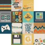 Simple Stories - So Rad - 12 x 12 Double Sided Elements Paper - 4x4 Elements