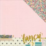 Simple Stories - So Fancy - 12 x 12 Duoble Sided Paper with Gold Foil Accents - Fancy