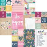 Simple Stories - So Fancy - 12 x 12 Double Sided Elements Paper - 2x2 & 4x6 Elements