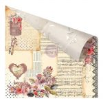 "Prima Marketing Inc - Rossibelle Collection - Double-Sided Cardstock with Foil 12""X12"" - Vintage Memories"