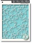 Memory Box Stencils - Star Flash stencil