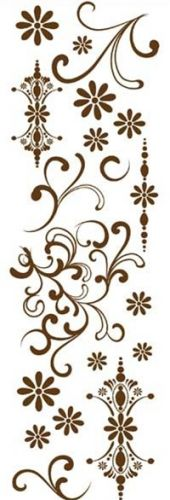 DAISY BUCKET DESIGNS -  RUB ONS - ELEGANT BROWN