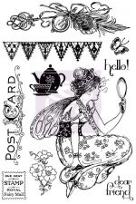 "Prima Winter 2013 - Fairy Rhymes - 4""x6"" sheet of cling mount rubber stamps"
