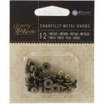 Prima Marketing Inc - Memory Hardware Embellishments - Metal Knobs, 12/Pkg