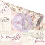 "Prima Marketing Inc - Love Story - Pink Foiled Double-Sided Cardstock 12""X12"" - Notes That Last Forever"