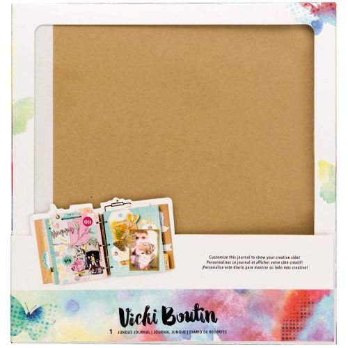 "American Crafts - Vicki Boutin Mixed Media Junque Journal - 8.75""X9.25"" Kraft"