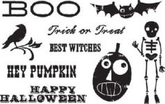 Cosmo Cricket - Haunted Stamps - Clear Cling Mount