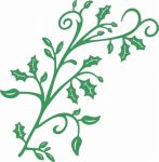 Cheery Lynn Designs Die - Mega Holly Flourish