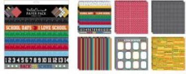 Bella - School Days Paper Pack - 12 Sheet Pack