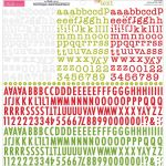"Bella Blvd - Tiny Text Cardstock Alphabet Stickers 12""X12"" - Festive"