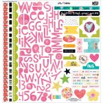 "Bella Blvd - Illustrated Faith - She Blooms Stickers 12""X12"" - Treasures & Text"