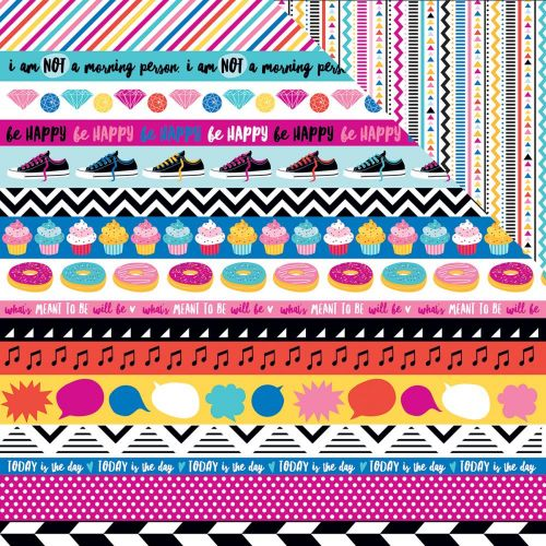 "Bella Blvd - Addison - Double-Sided Cardstock 12""X12"" - Borders"