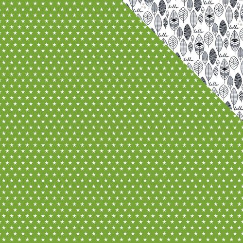 "Bella Blvd - Oh My Stars Double-Sided Cardstock 12""X12"" - Guacamole"