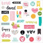Bella Blvd - Illustrated Faith You Are Loved Paper Pieces Die-Cuts - 35 Pieces