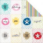 "Bella Blvd - Color Chaos Double-Sided Cardstock 12""X12"" - Months"