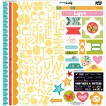 "Bella Blvd - Illustrated Faith Whatever Is Lovely - Stickers 12""X12"" - Treasures & Text"