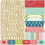 Echo Park Paper Company - Beautiful Life Collection - Alpha Sticker Sheet