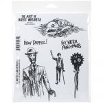"Stampers Anonymous - Brett Weldele Cling Stamps 7""X8.5"" - Dandy Robot"