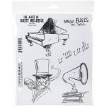 "Stampers Anonymous - Brett Weldele Cling Stamps 7""X8.5"" - Music Man"