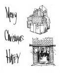 Stampers Anonymous - Brett Weldele Cling Stamps Christmas Parcels