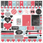 My Mind's Eye - Cupids Arrow No.14 - 12x12 Sticker Accessories Sheet