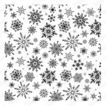 Impression Obsession - Cover-A-Card - Cling Mount Rubber Stamp - Snowflakes