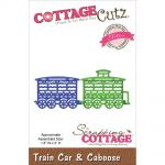 "Cottage Cutz - Scrapping Cottage - Die - Train Car & Caboose 1.8""X2"""