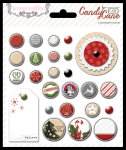 Teresa Collins Designs - Candy Cane Lane - Decorative Brads