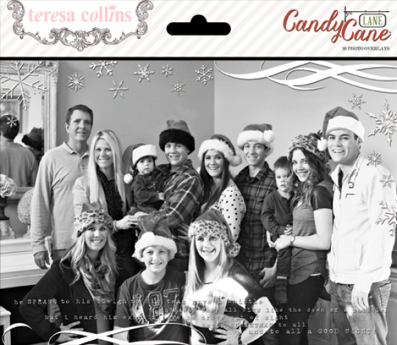 Teresa Collins Designs - Candy Cane Lane - Photo Overlays