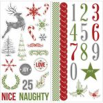 Teresa Collins Designs - Candy Cane Lane - Chipboard Elements