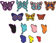 Cheery Lynn Designs Die - Mini Dimensional Butterflies with Angel Wings