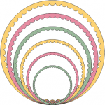 Cheery Lynn Designs Die - Circle - Inverted Scallop