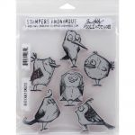 "Tim Holtz - Collection - Stampers Anonymous - Cling Rubber Stamp Set 7""X8.5""- Bird Crazy"