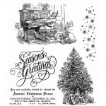 "Tim Holtz - Collection - Stampers Anonymous - Cling Rubber Stamp Set 7""X8.5""- Christmas Magic"