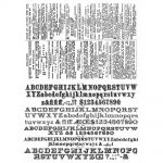 "Tim Holtz - Collection - Stampers Anonymous - Cling Rubber Stamp Set 7""X8.5""- Newsprint & Type"