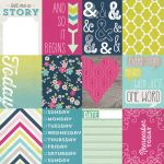 "My Mind's Eye - Cut & Paste - Story - Cards  - 12"" x 12"" Double Sided Patterned Paper"
