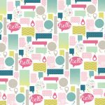 "My Mind's Eye - Cut & Paste - Hello - Call  - 12"" x 12"" Double Sided Patterned Paper"