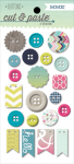 My Mind's Eye - Cut & Paste - Loved - Decorative Buttons
