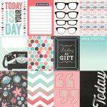 "My Mind's Eye - Cut & Paste - Today - Present  - 12"" x 12"" Double Sided Patterned Paper"