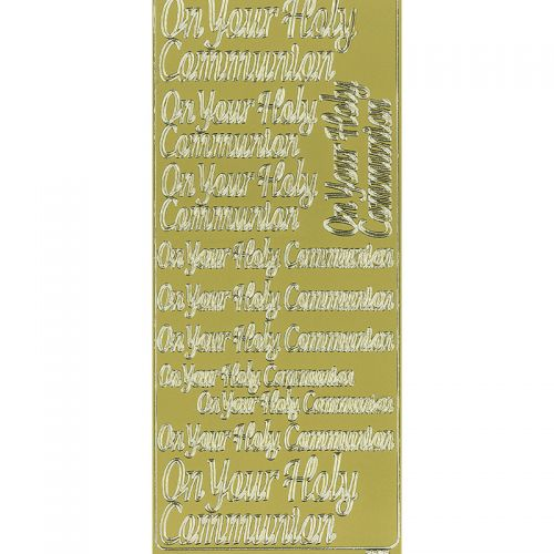 Peel Off Stickers - Communion - Gold