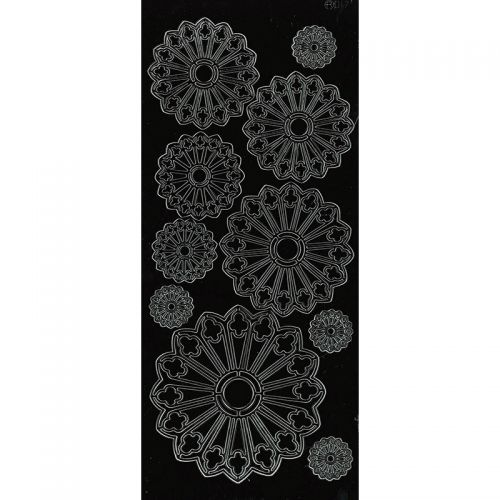 Peel Off Stickers - Pointed Doilies - Black